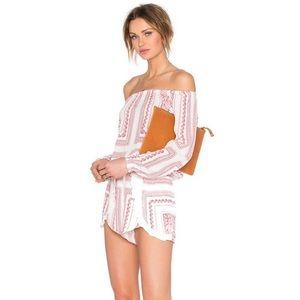 Lovers + Friends Long Sleeve Paisley Romper Small